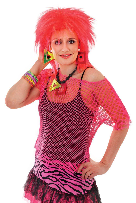 80s Costume Idea Wear A Neon Fishnet Top Over A Black