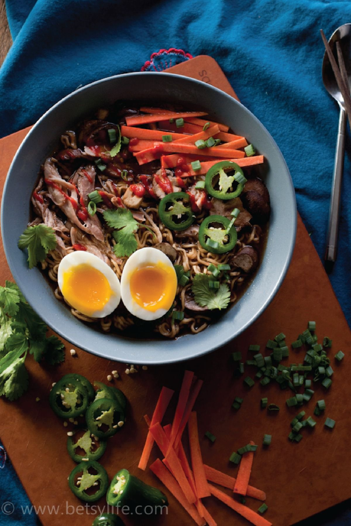 As this Slow Cooker Pork Ramen Soup recipe simmers throughout the day, your kitchen will be filled with exciting aromas and savory flavors—making this dish wonderful for serving on a crisp fall day.