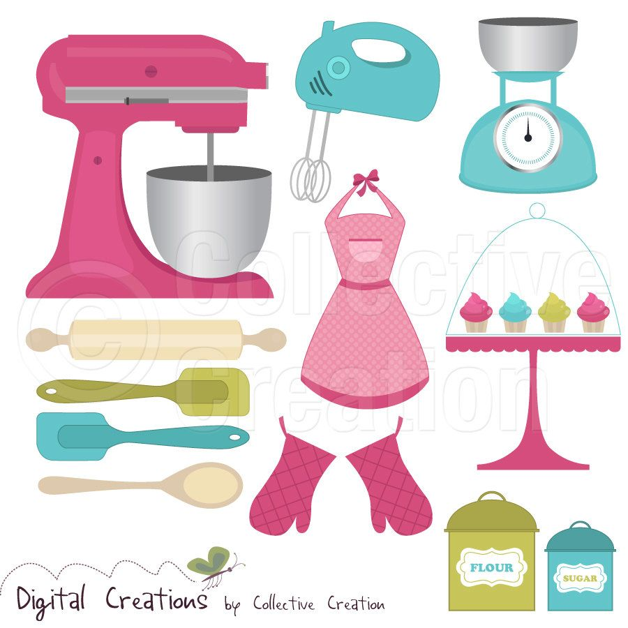 Kitchen Tools Clip Art - Free Large Images …