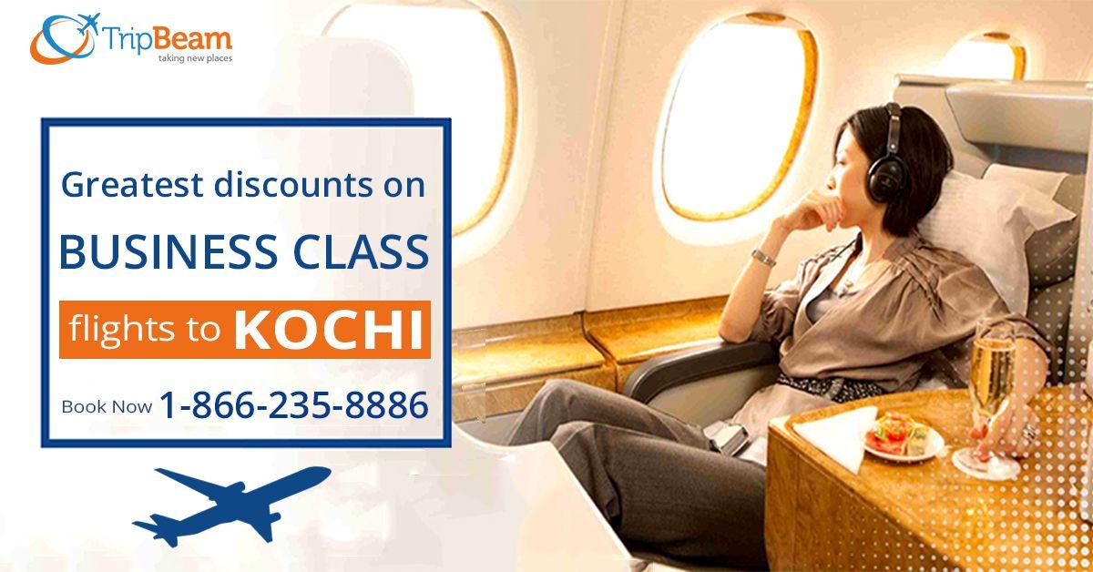 Cheap Business class flights to #Kochi. Enjoy discounted flight deals with #Tripbeam! Book your business class tickets today!   For more information: Contact us at: 1-866-235-8886 (Toll-Free).  #TravelKochi #incredibleindia #FlightOffers #BestDeal #FlightsDeals #explorekochi #kochitravel #kochitourism #travelers #businessclassflight #businessclassflightdeals #bookflightsonline
