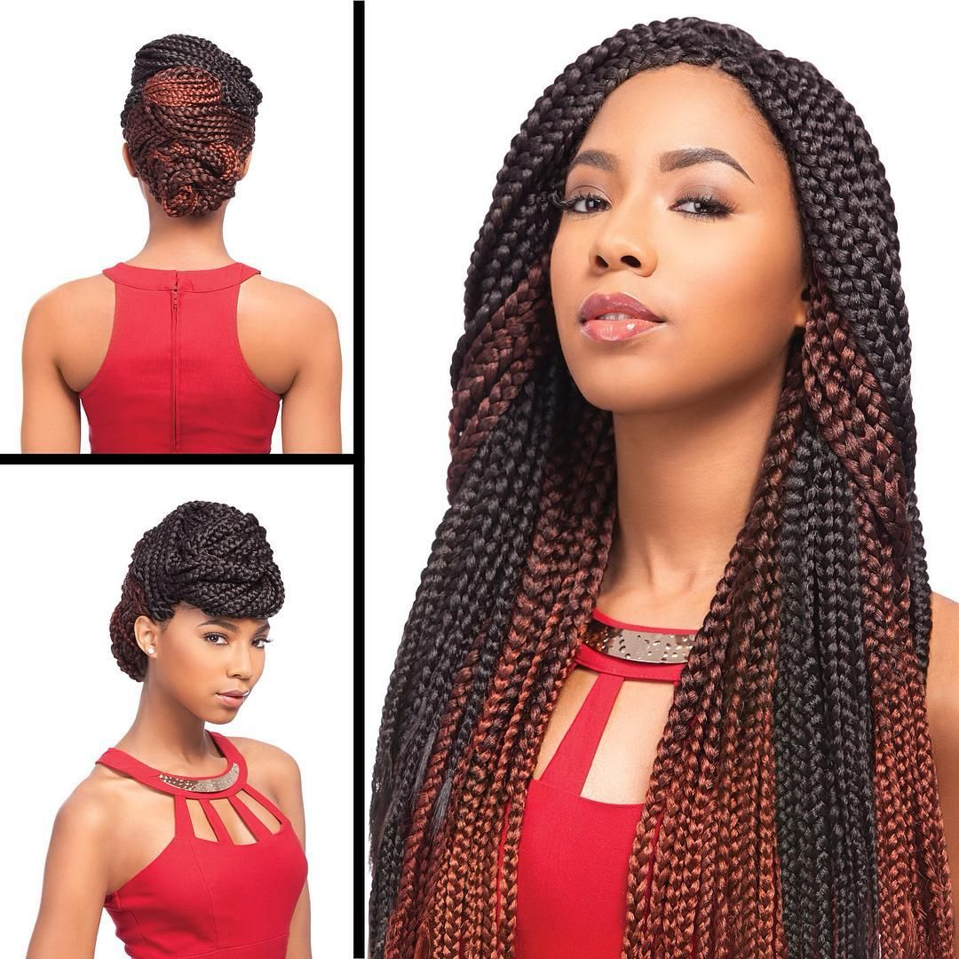 60 chic big & medium & small box braids styles — braiding