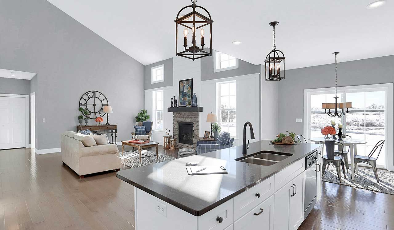 The Hunter Kitchen The Hunter At Mountain View Home Builders New Home Builders Home