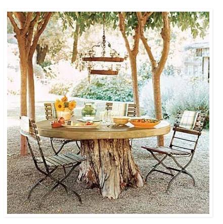 Like The Idea Of A Tree Stump As Table Base