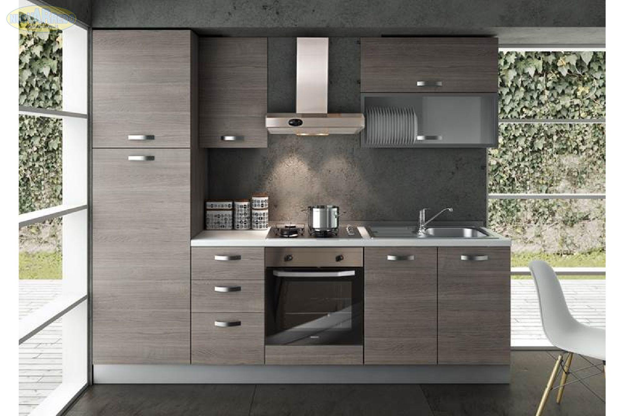 Prezzo: € 990 Cucina componibile in larice grigio completa di ...