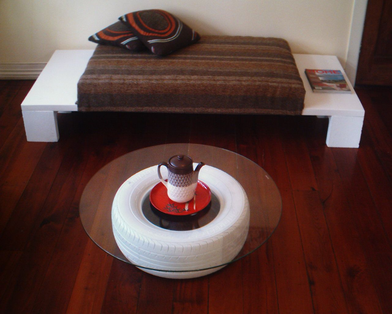 Painted tire coffee table furniture diy pinterest painted painted tire coffee table geotapseo Image collections
