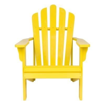 Shine Company Westport Lemon Yellow Cedar Wood Adirondack Chair