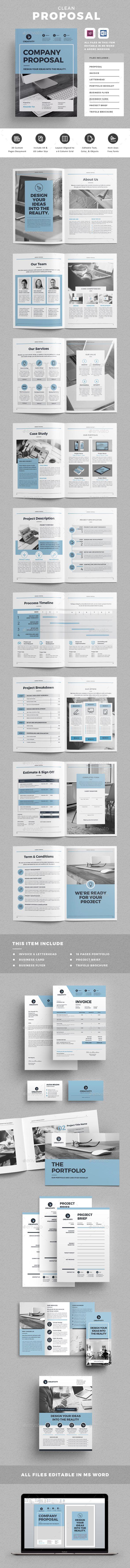 Proposal - Proposals & Invoices Stationery | Páginas y paginaciones ...