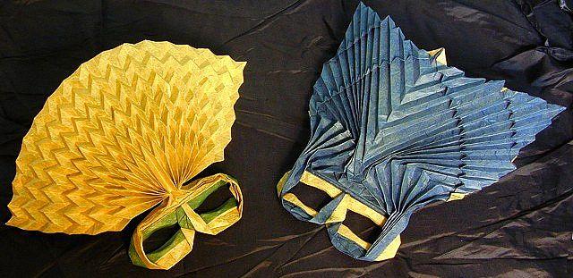 Mardi Gras Origami Masks by origamiwolf, via Flickr