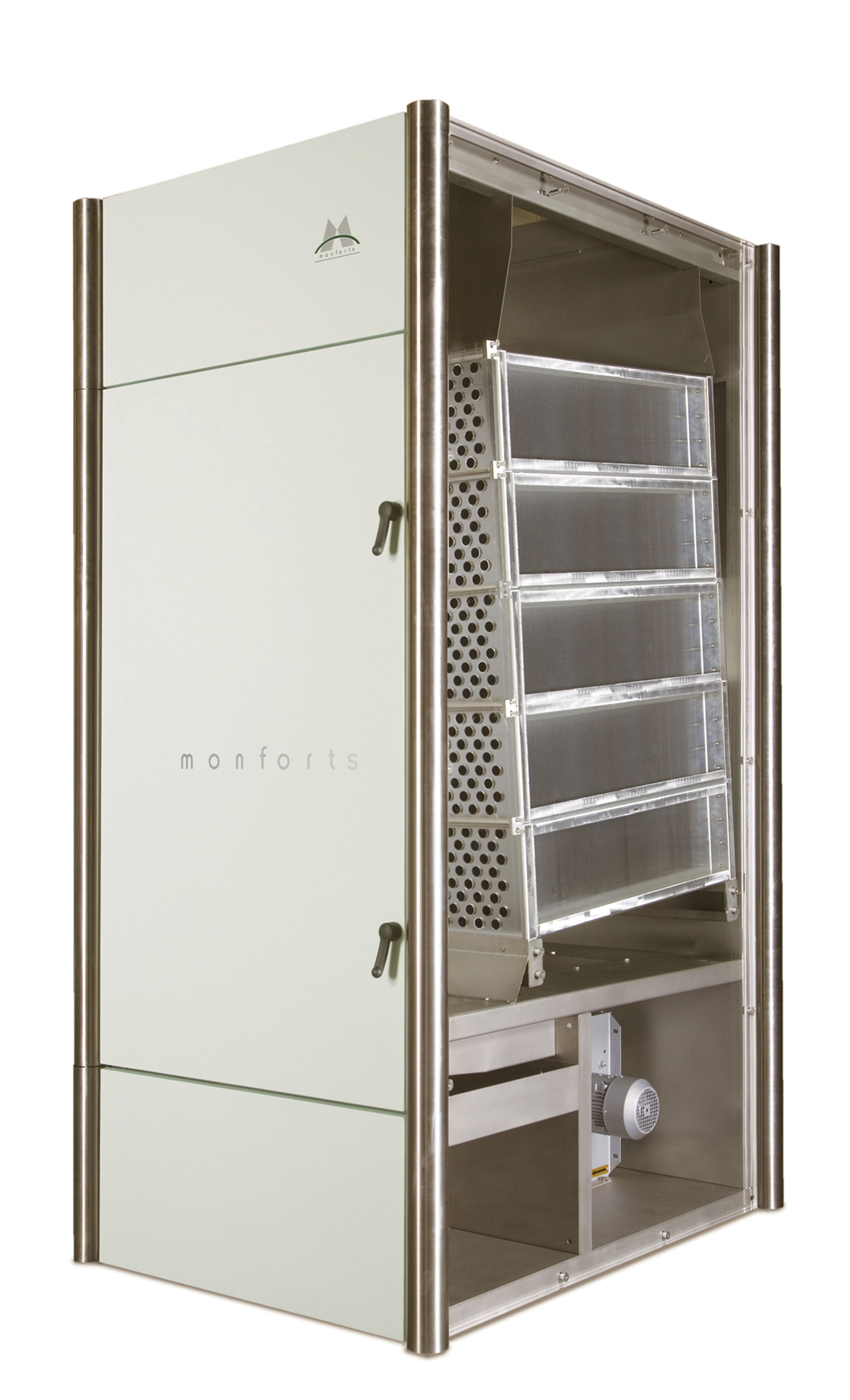 The 'Energy Tower' is a standalone air/air heat exchanger