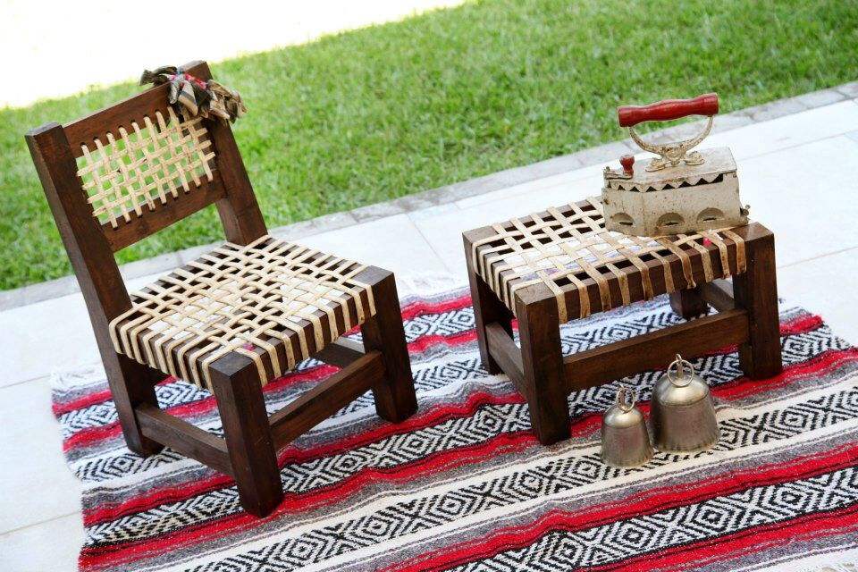 Sillas matera madera y cuero muebles de campo casa de for Muebles para casa de campo