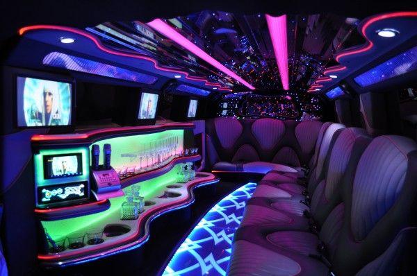 Blue Hummer Limo Interior   Latest Video Hits & Karaoke ...