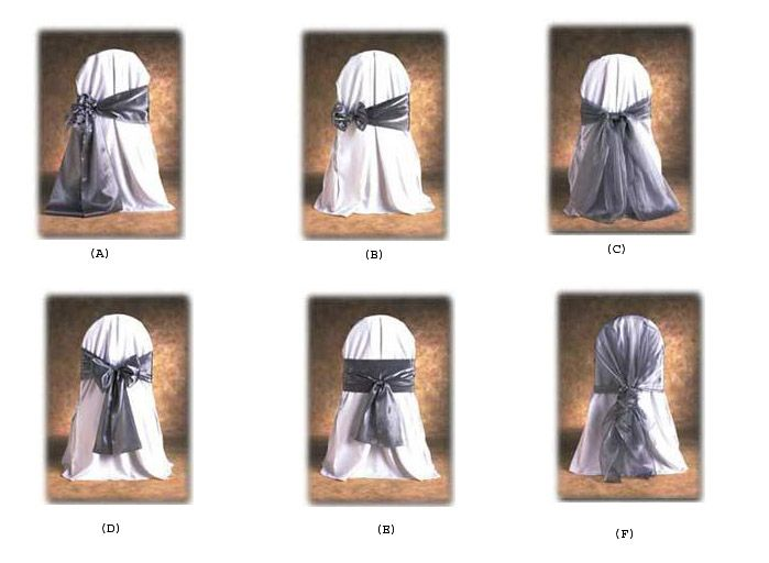 Chair Cover Bows different ways to tie chair sashes | wedding | pinterest | chair