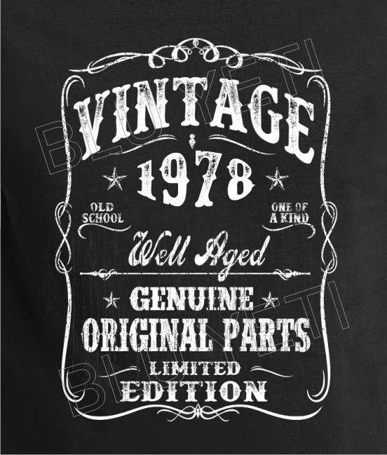 1978 Birthday Gift 1978 Birthday Shirt Vintage 1978