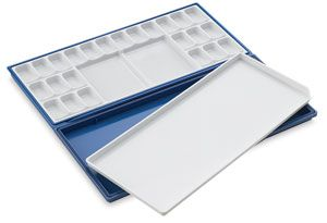 Mijello Fusion Airtight Leakproof Palette 6 Blue 24 Wells
