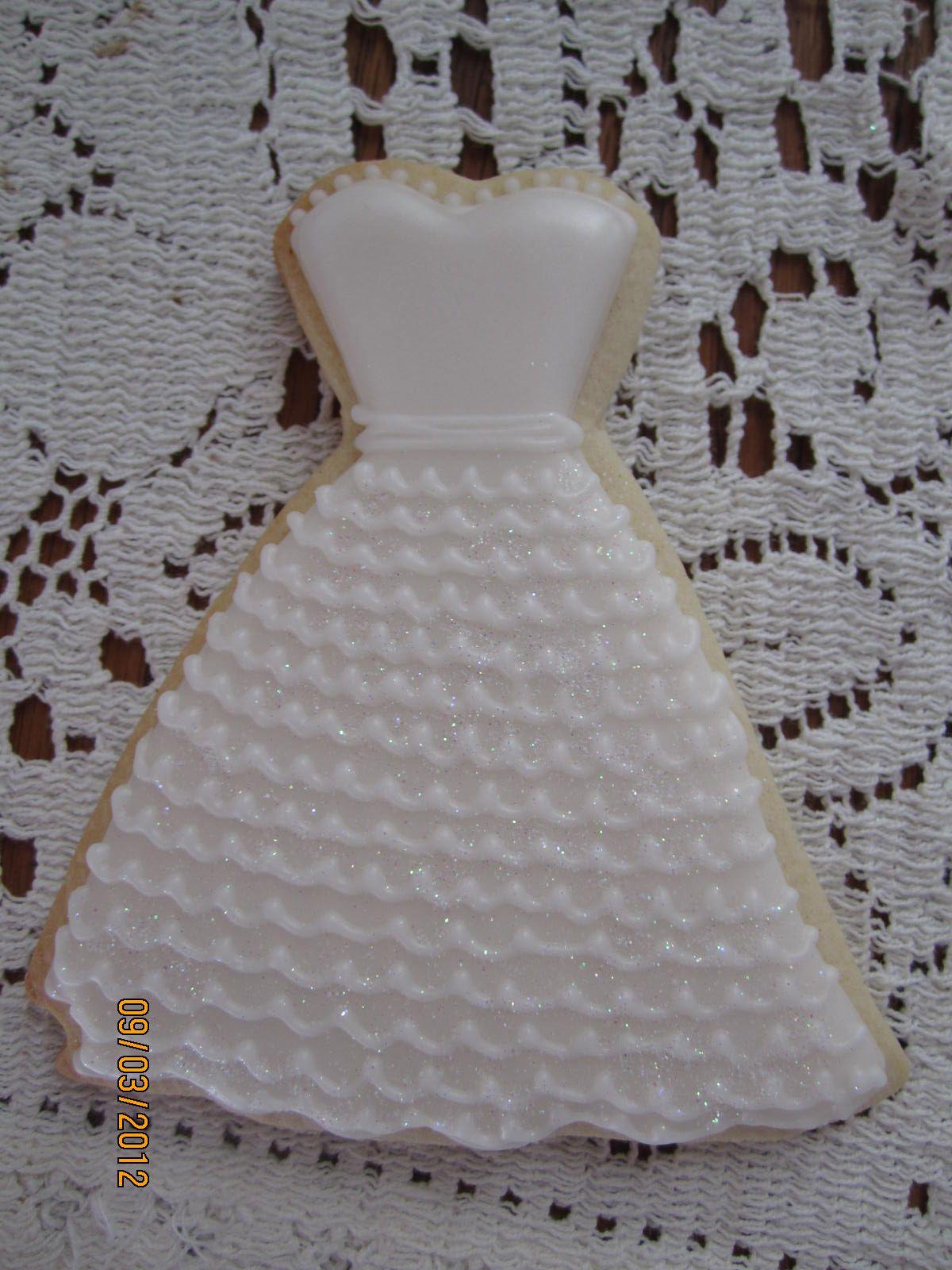wedding gown cookie | cookie designs | Pinterest | Sugar cookies ...