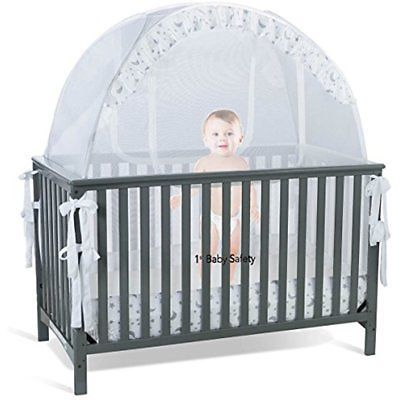 Baby Pop Up Crib Tent Net Canopy Cover Bedding Safety Frame Kids Bedroom Nursery Crib Tent Baby Cribs Crib Safety