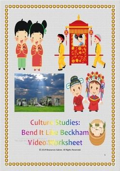 This great resource can be used in relation to studies of World Cultures. After students have completed watching the film 'Bend It Like Beckham' in class, this worksheet can be given to students to work in pairs or groups.    The worksheet has fourteen important features of culture which students have to identify in the film.