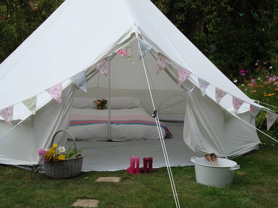 Gl&ing Canvas Bell Tent £450 Too big - this but smaller! & Glamping Canvas Bell Tent £450 Too big - this but smaller ...