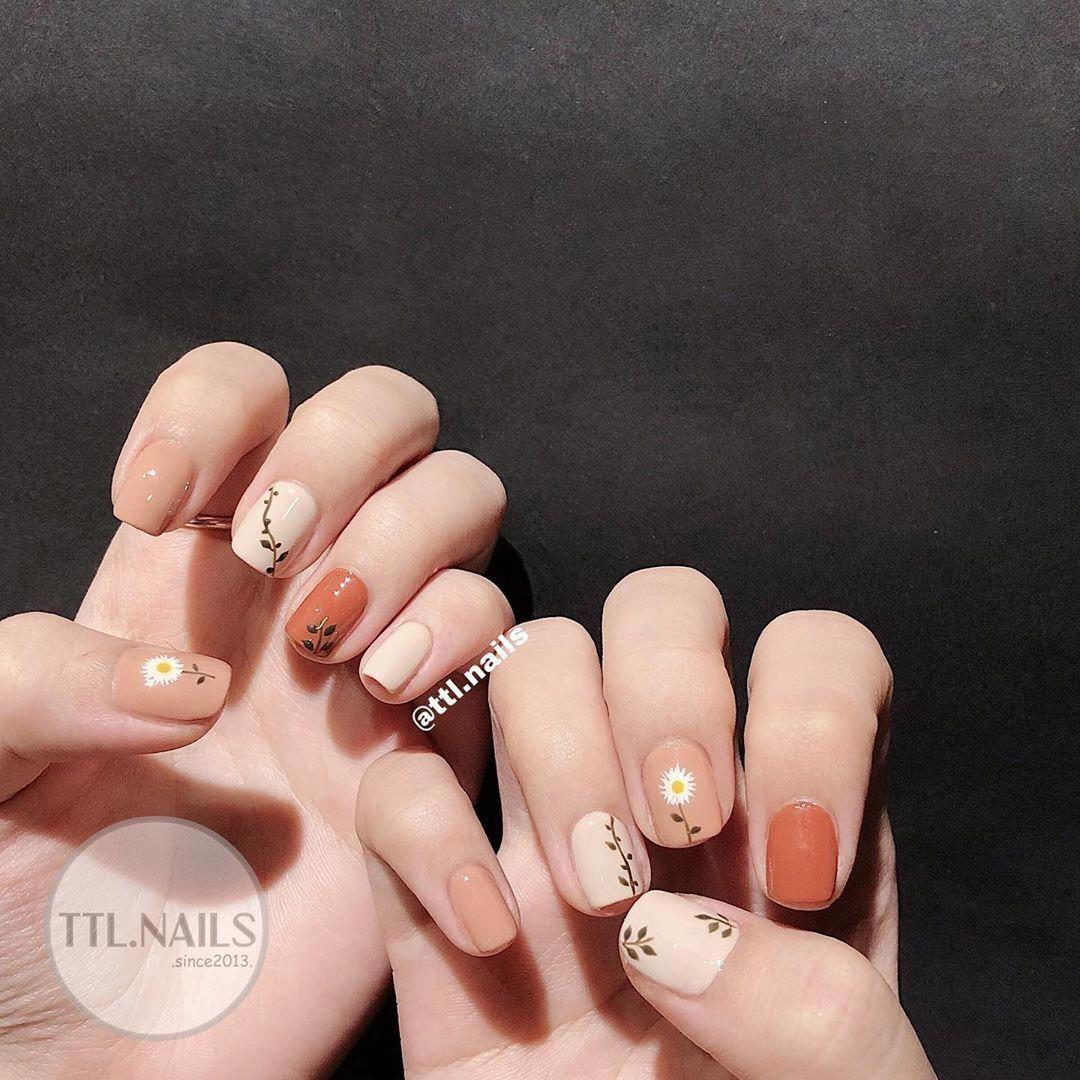 Beautiful Nail Designs Koreannailart Autumnails In 2020 Swag Nails Minimal Nails Korean Nail Art
