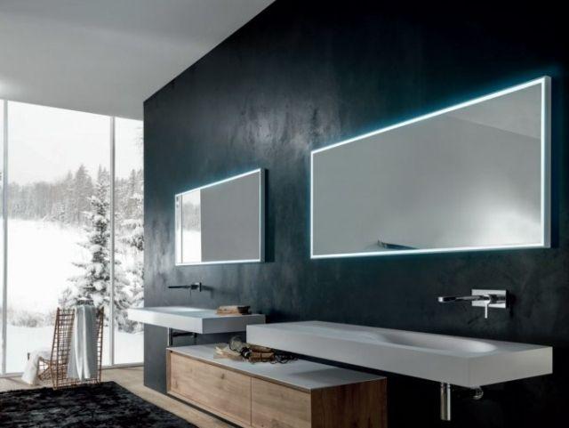 ensemble de miroirs salle de bains lumineux par Falper