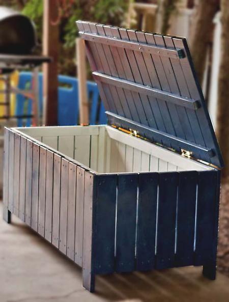 DIY Outdoor Storage Box Or Kids Toy Box