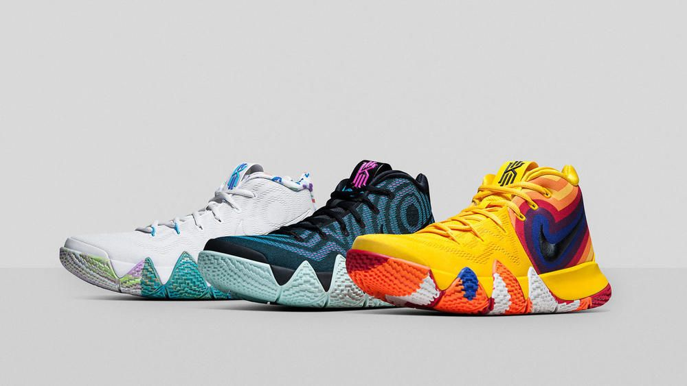 best authentic f19b4 ad580 Nike Kyrie 4 Decades Pack 70s 80s 90s Yellow Blue Red White ...