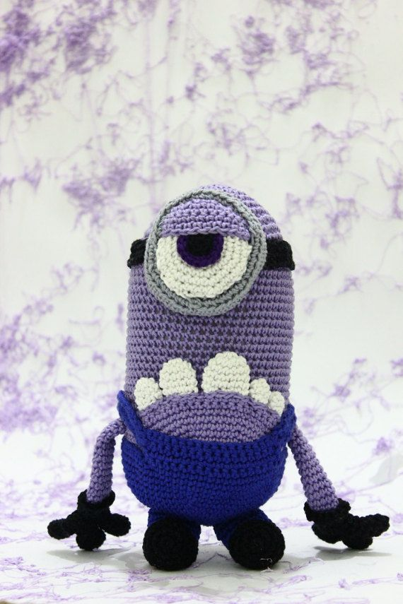 Purple Minion crochet amigurumi bad minion by AmigurumiSA | みにおん ...
