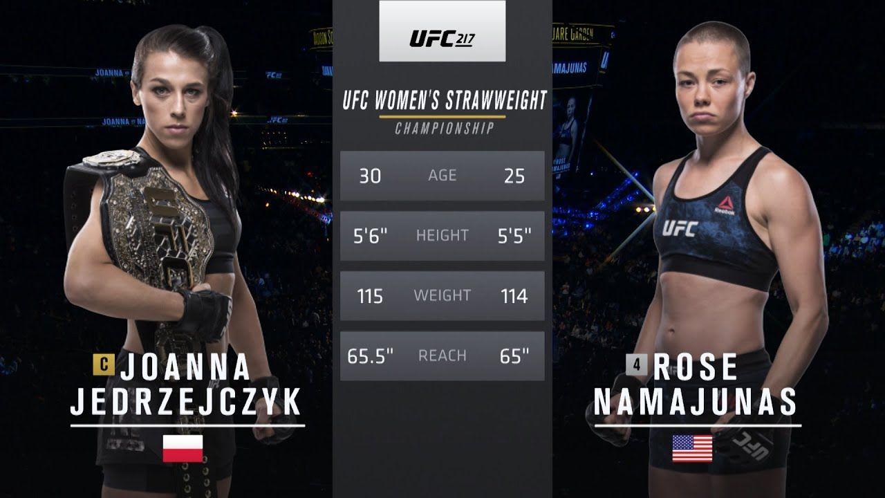 Free Fight Rose Namajunas Vs Joanna Jedrzejczyk 1 Ufc 217 2017 Youtube En 2020
