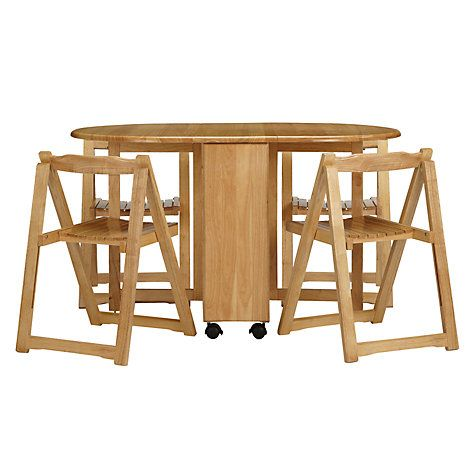 John Lewis Butterfly Drop Leaf Folding Dining Table And Four Chairs Folding Dining Table Drop Leaf Table Foldable Dining Table