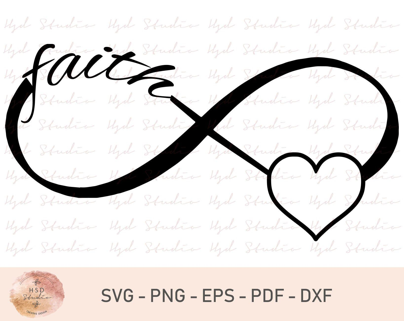 Download Infinity Heart – Svg, Png & Vector Cut File PNG