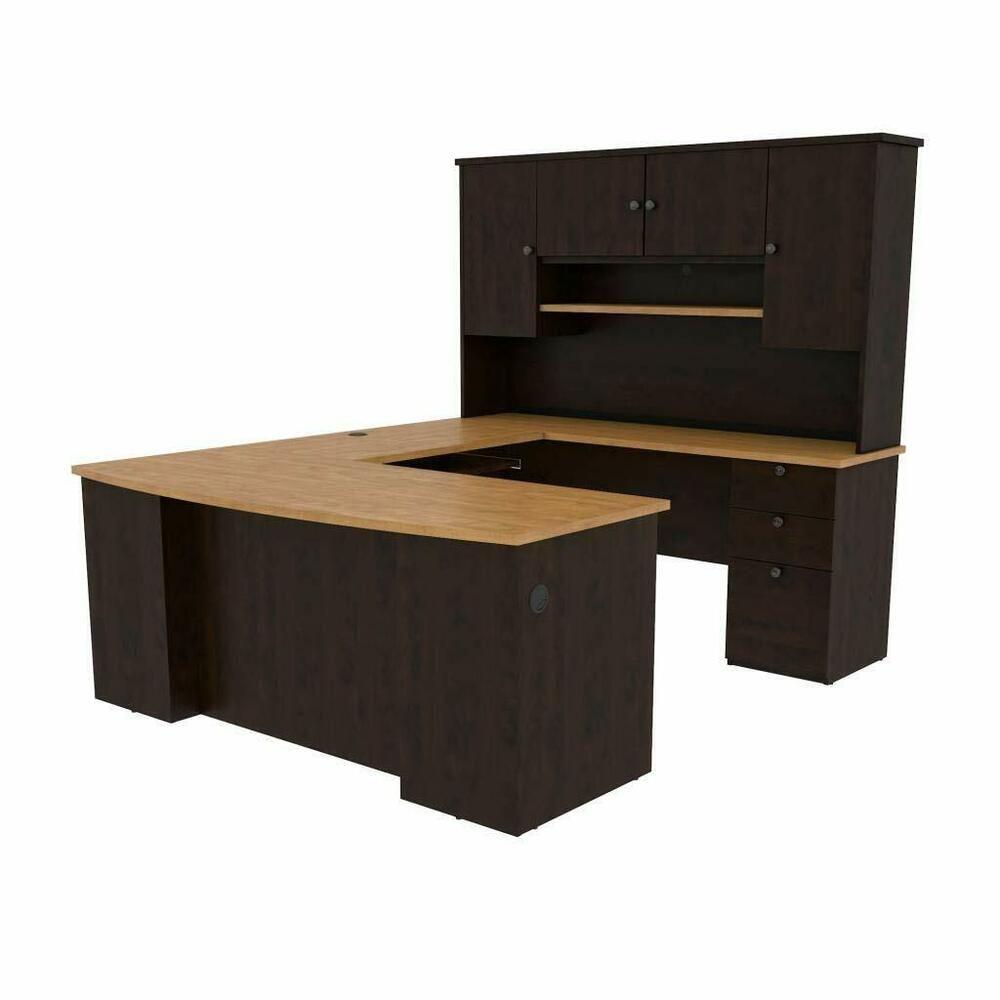 Bestar ushaped workstation affilink desk desksetup