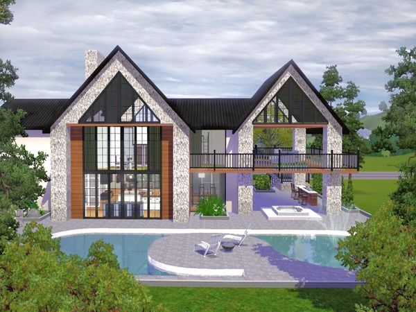 The Sims Resource TSR Crestwood Villa by chemy Sims 3 Downloads CC Caboodle