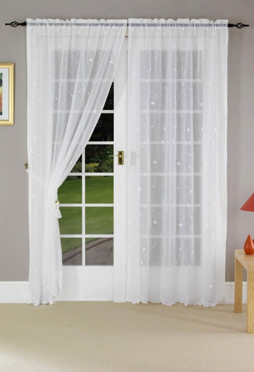 patio door net curtains