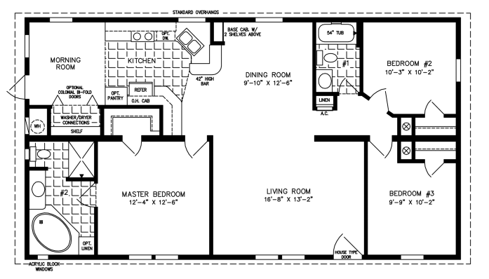 1280 Sq Ft Manufactured Home Floor Plan House Floor Plans Manufactured Home Manufactured Homes Floor Plans