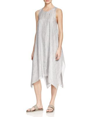 b86453cb8e28 Eileen Fisher Silk Handkerchief Hem Dress - 100% Bloomingdale's Exclusive |  Bloomingdale's