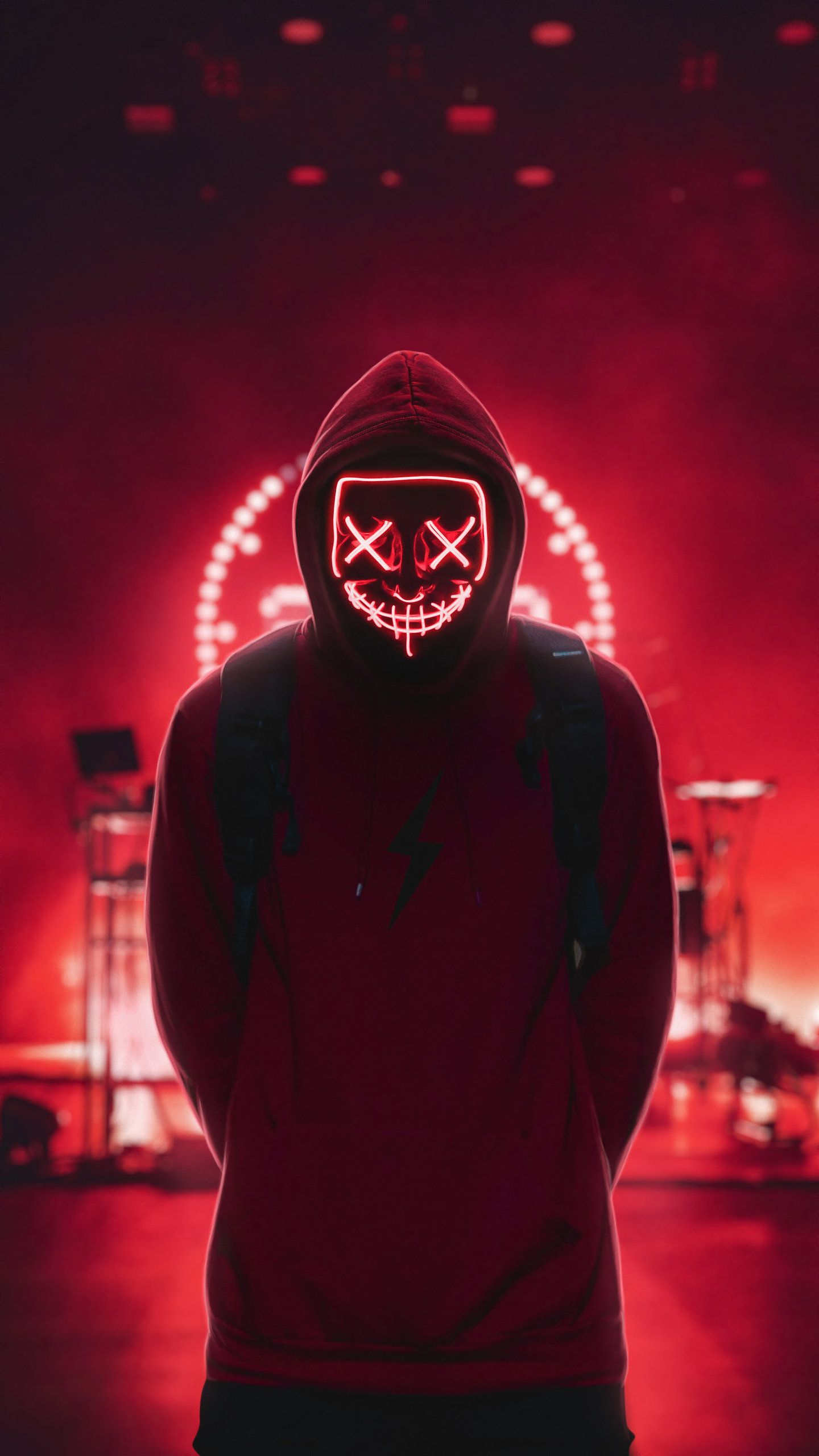 Neon Man 4K HD Wallpaper (1440x2560) (With images