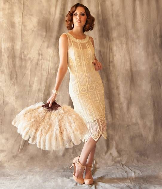 4ee11731f765f Unique Vintage 1920s Ivory Beaded   Sequin Steinway Flapper Dress ...