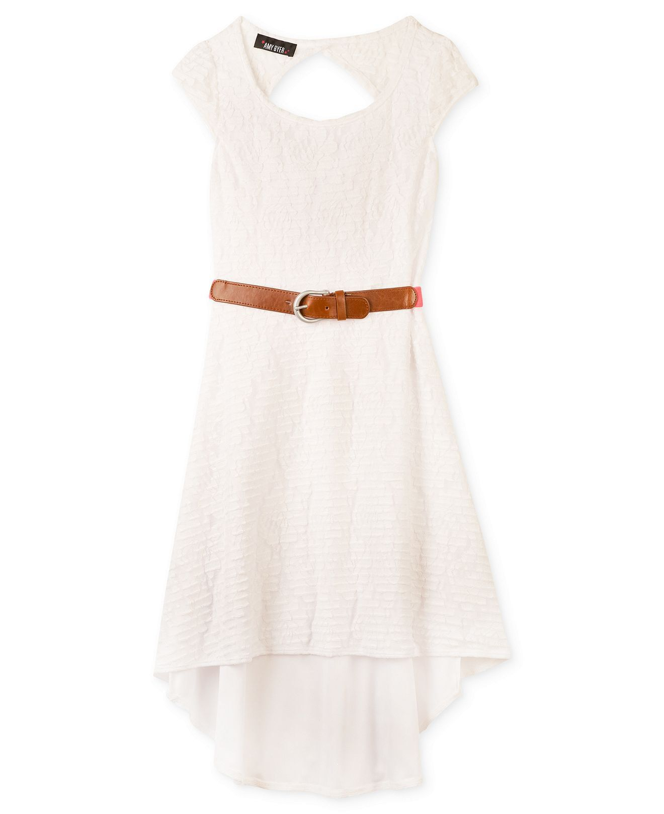 Girls high-low hem chiffon dress | Dresses for girls, High low and ...