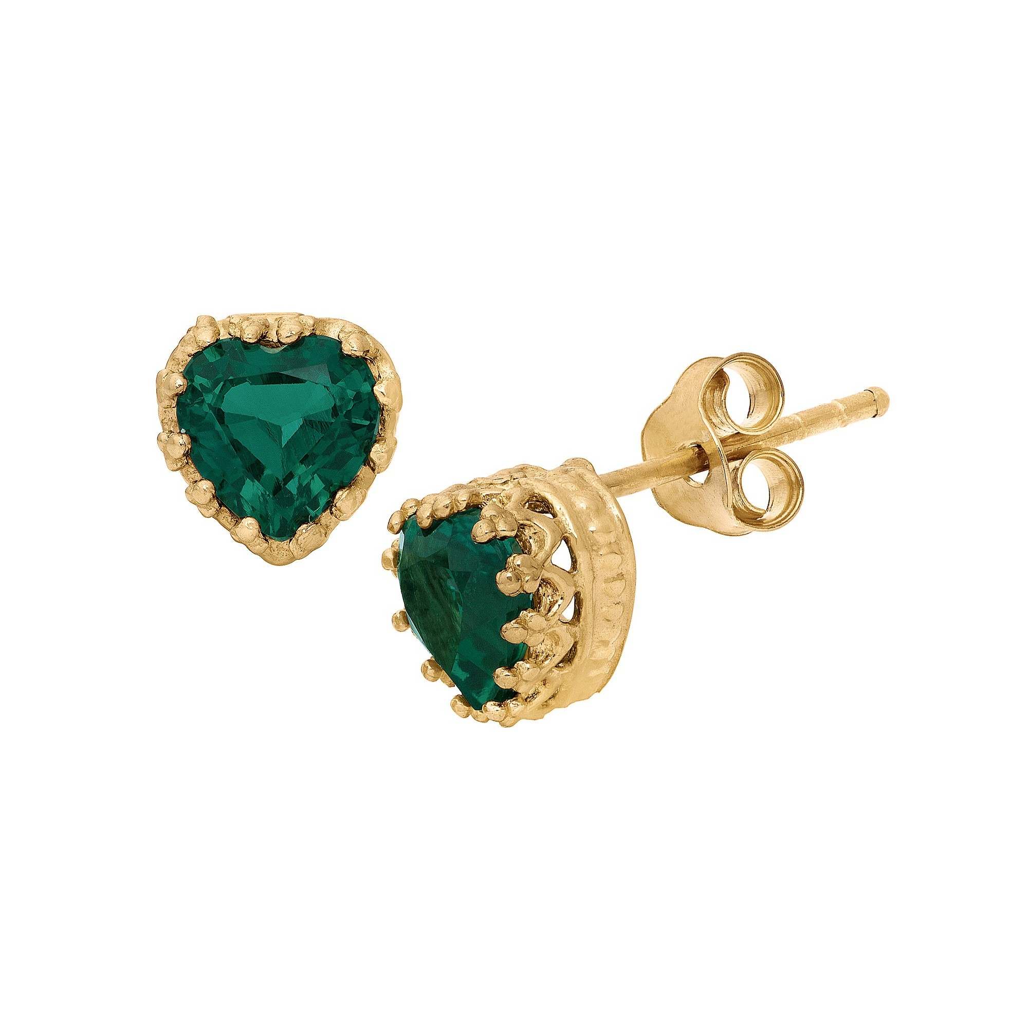 jewellery little two earrings simulated emerald switzerland stone products