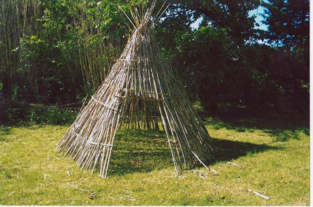 teepee loving growing up I played in a stick tee pee that ...