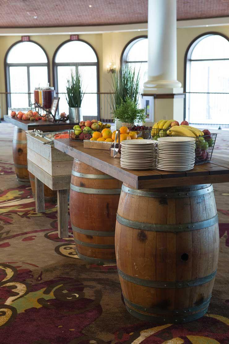 wine barrel kitchen table
