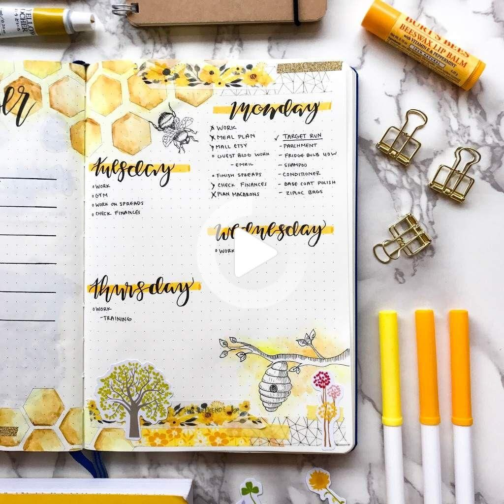 Weekly theme Bees   Bullet Journal Amino   Bullet journal themes ...