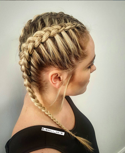 Khloe Kardashian Inspired Braids Created By Jess Two Braid Hairstyles Easy Hairstyles For Long Hair Hair Styles