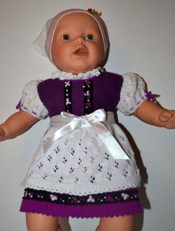 Baby Dirndl * Gestrickt * GR. 62 - 68 * Taufe | Stricken | Pinterest ...