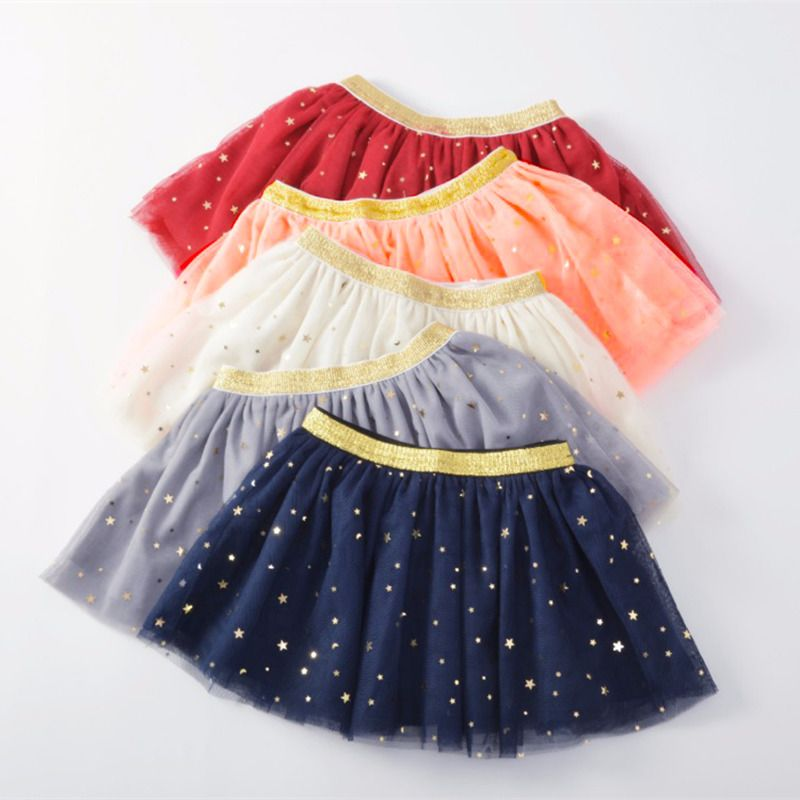 d4c91ae78 Baby Skirts For Girls Pettiskirts Tutu Five Stars Printed Ball Gown ...