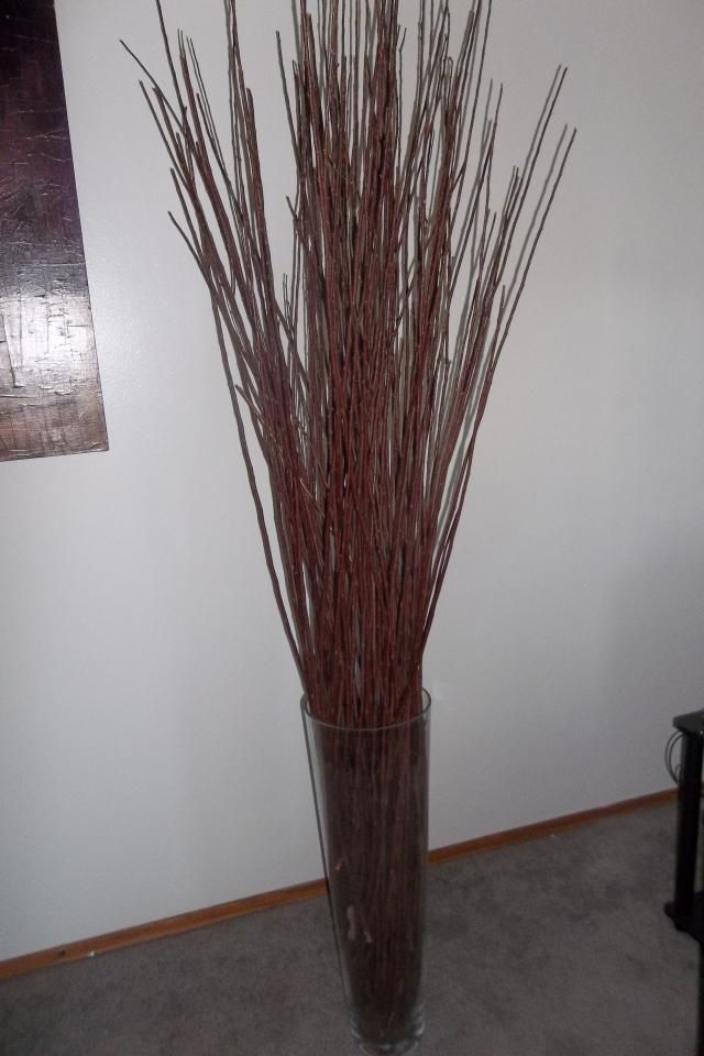 12 Large Floor Vase With Decorative Sticks