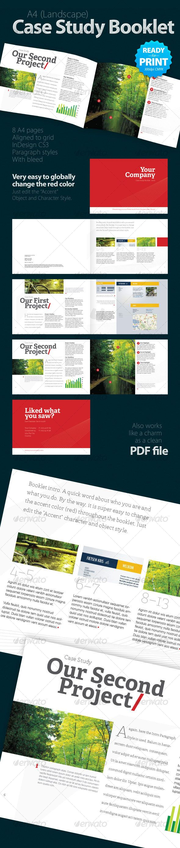 Case Study Booklet (8 pages) | Brochures, Brochure template and ...