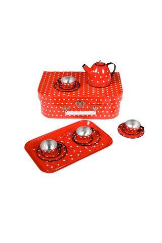 Sparkle & Spin Spotty Tin Tea Set