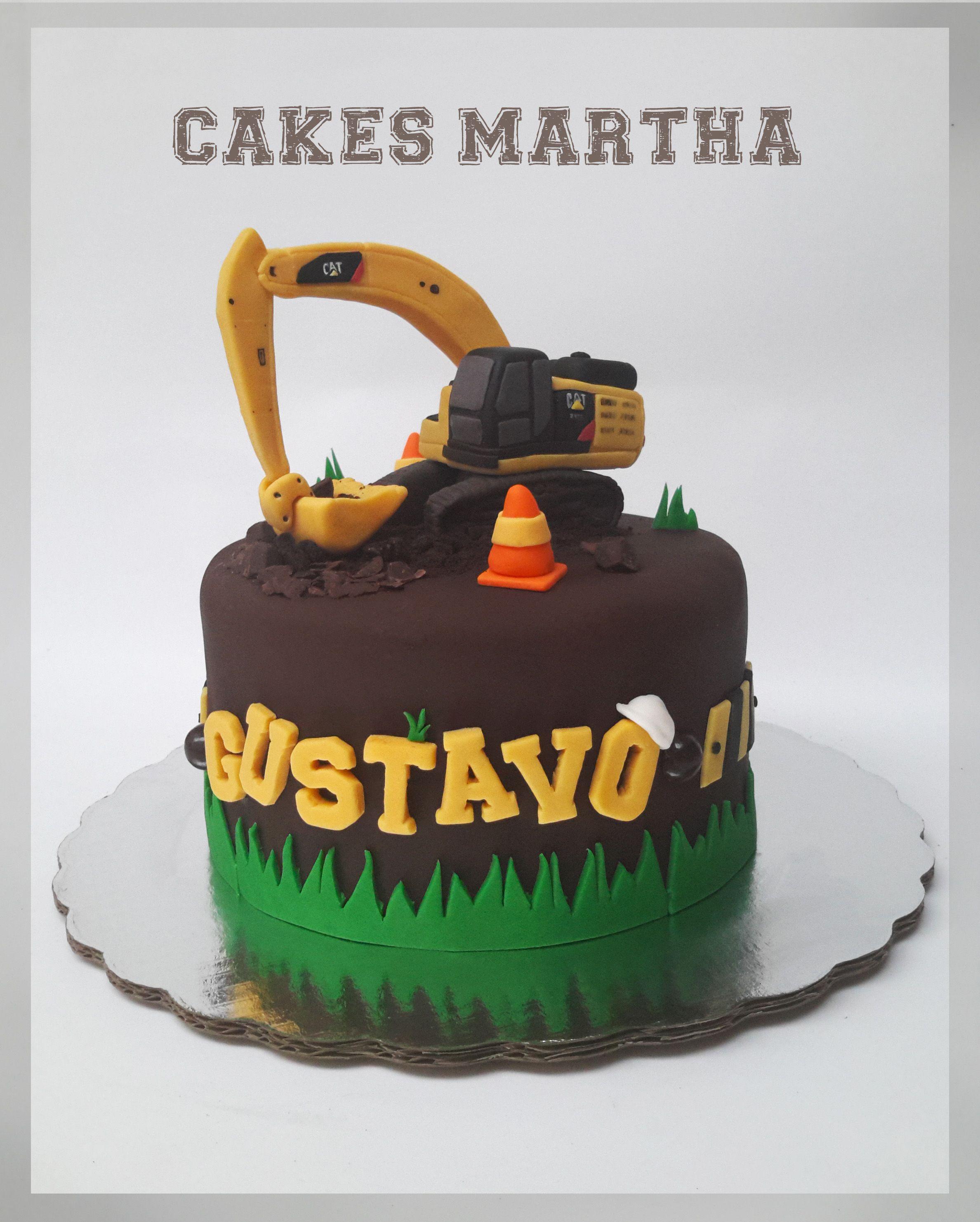 Caterpillar Excavator Cake Pastel De Excavadora Caterpillar