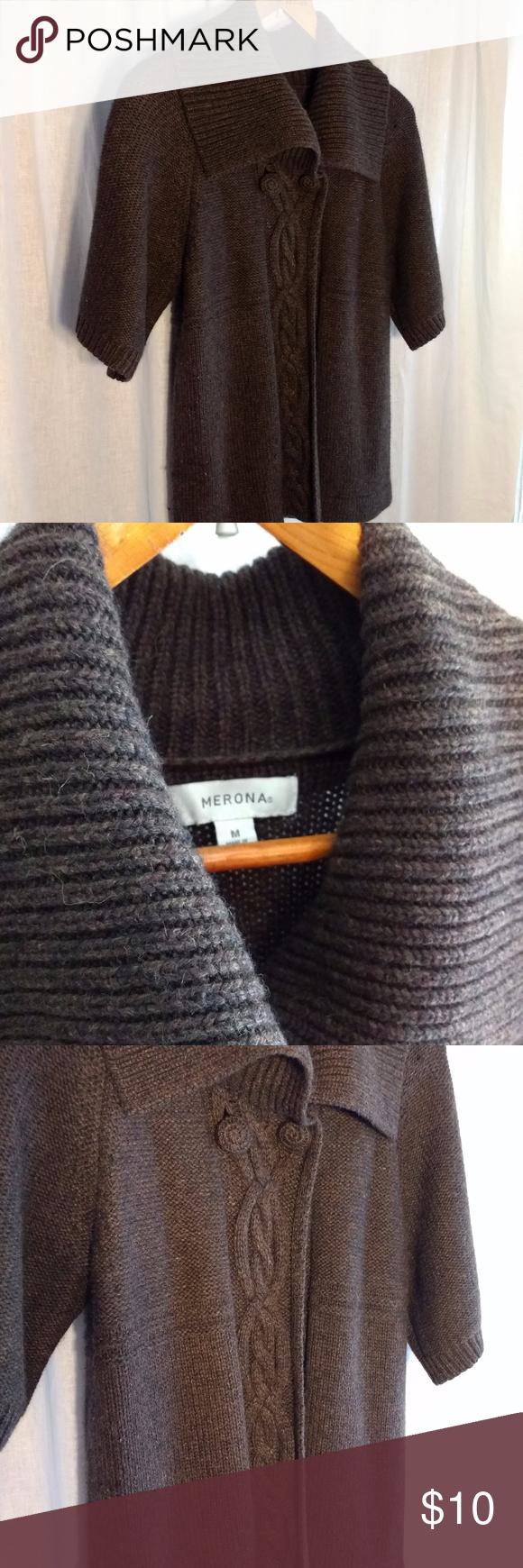 Merona Brown Short Sleeve Sweater sz MD | Brown shorts, Short ...